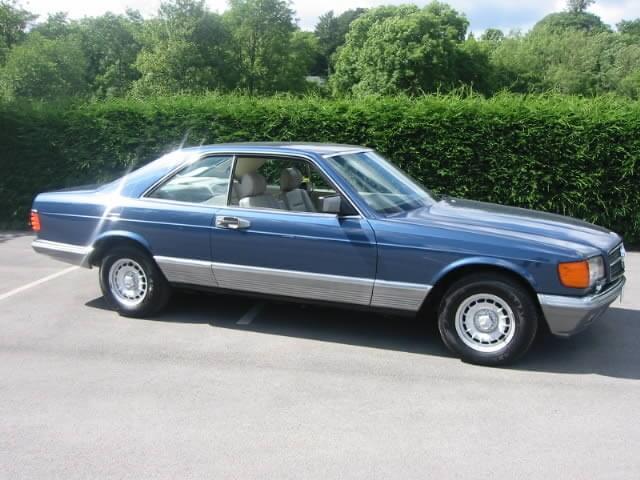 1986 mdl Mercedes 500 SEC