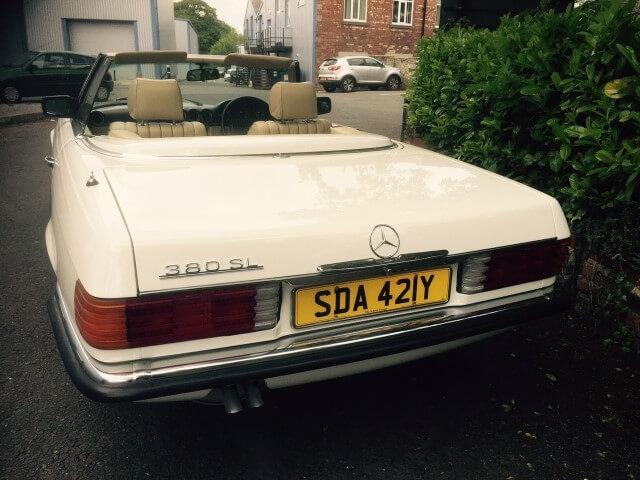 1983 Mercedes 380 SL auto.