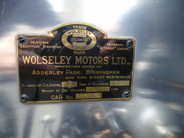 1922 Wolseley 200 Mile