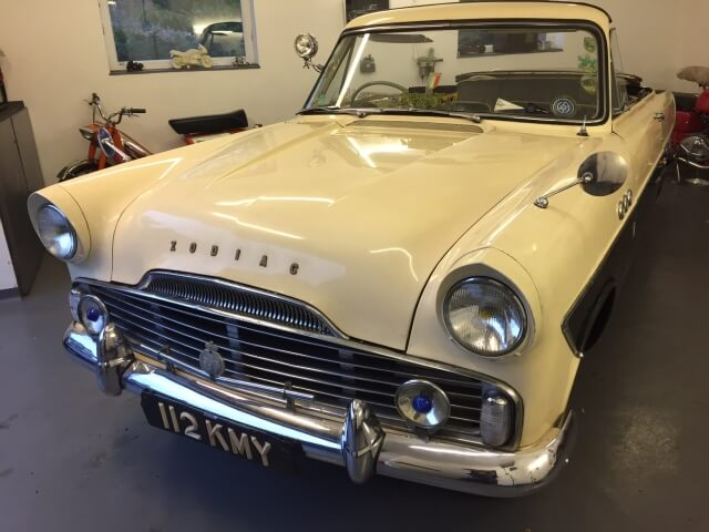 1957 Ford Zodiac mk2 Highline convertible.